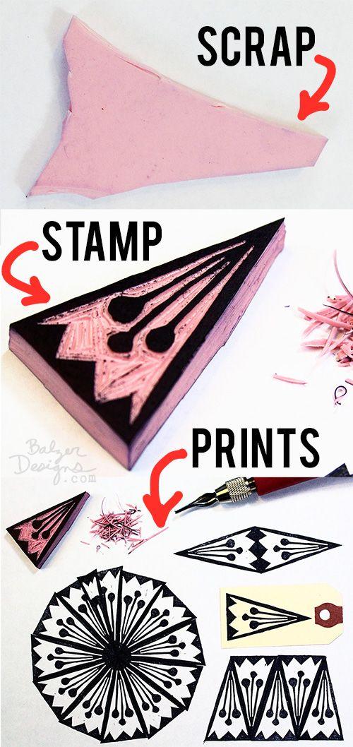 Julie Fei-Fan Balzer - stamps from leftover blocks