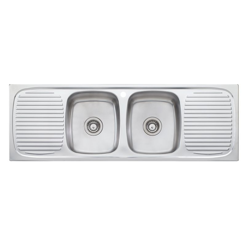 Ultraform Double bowl inset sink with double drainer $629 ...