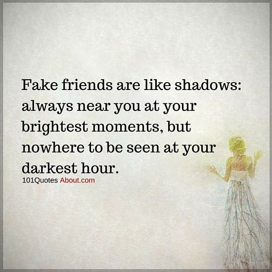 Fake friends are like shadows - Fake Friend Quote #fake # ...