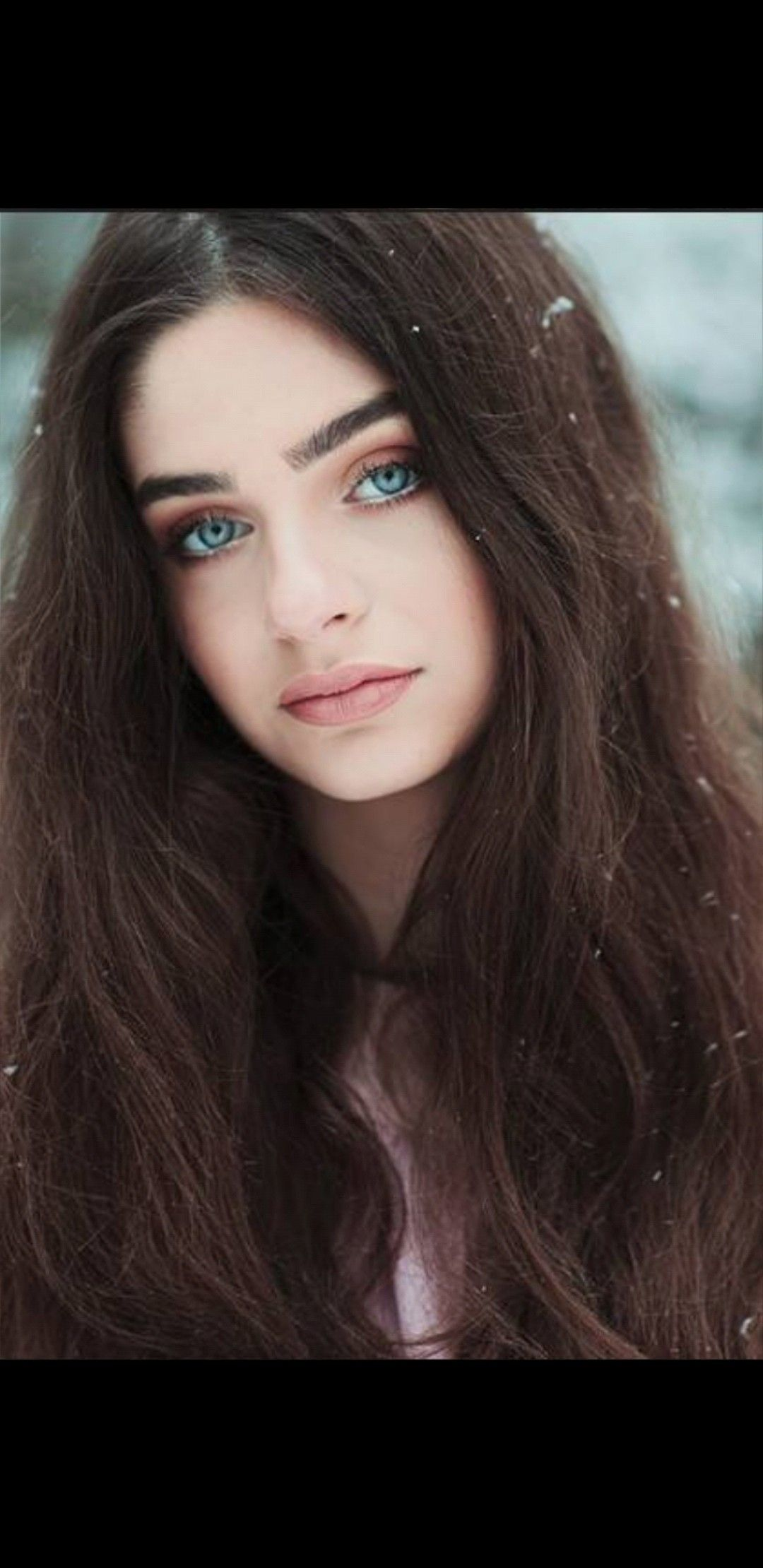 Blue pretty brown eyes haired girl with 10 Pretty