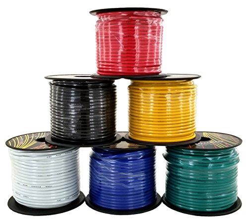 14 Gauge Flexible Copper Clad Aluminum Low Voltage Primary Wire 6 Color Set Best Price Car Parts Online Oempartscar Com Audio In 2020 Color Set Flexibility Aluminum