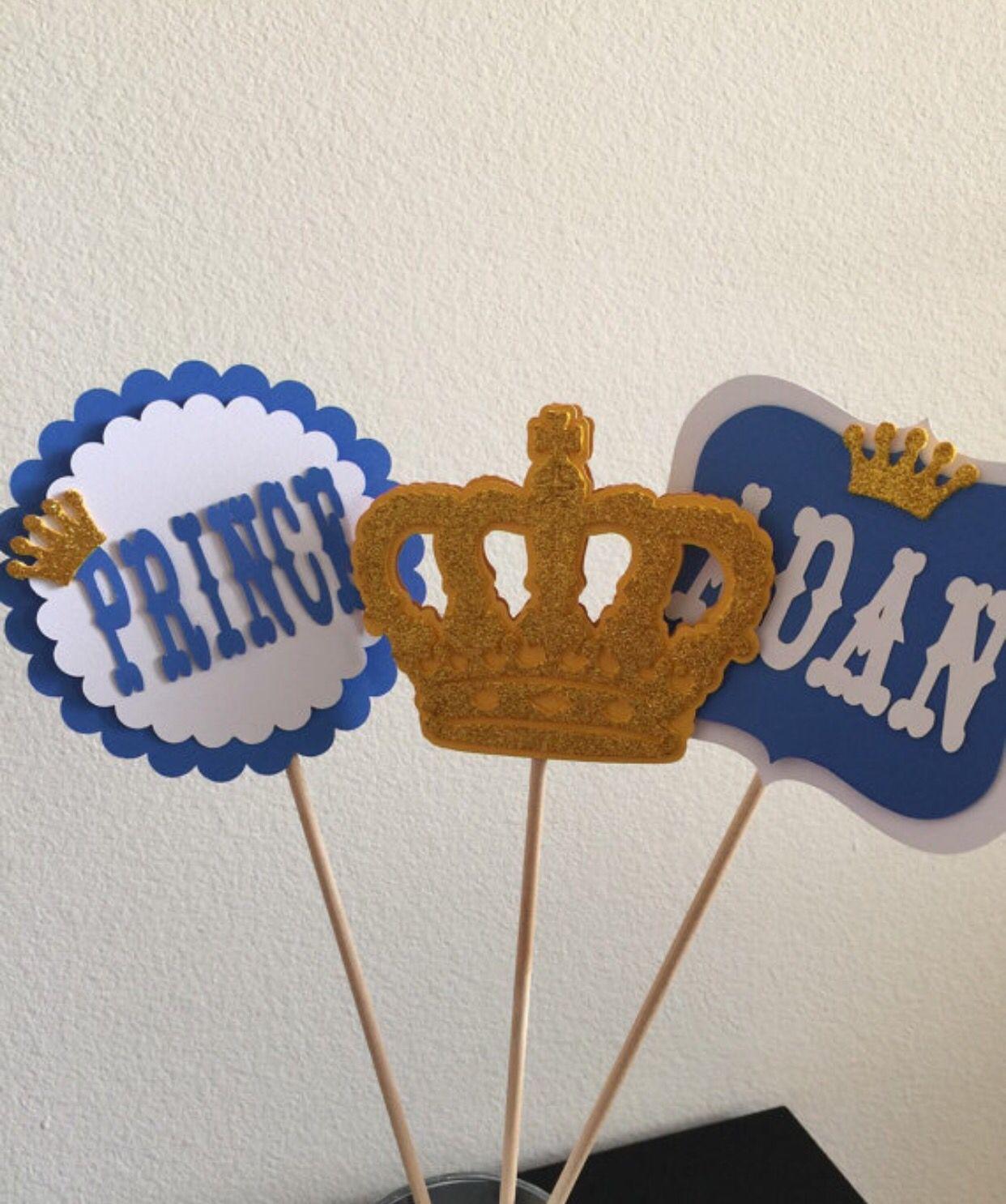 Royal Prince Centerpiece Sticks Set Royal Prince Baby Shower
