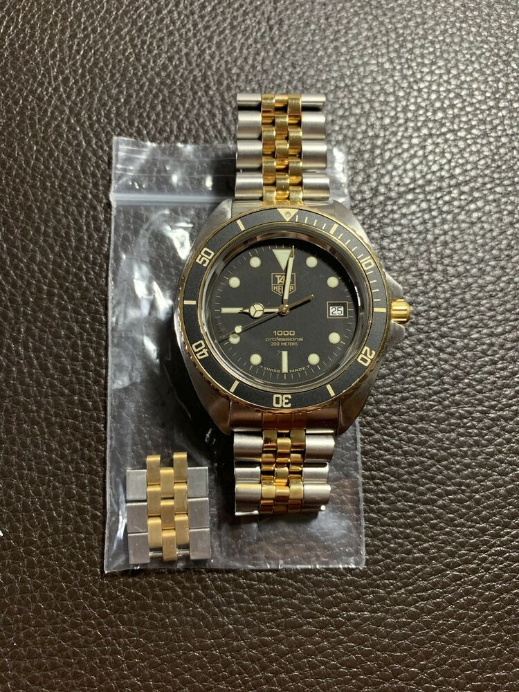 7091fa01a52 Vintage Tag Heuer 1000 Two Tone Dive Watch 980.021
