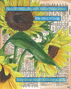 Painting - Sunflower Dictionary 1 by Debbie DeWitt