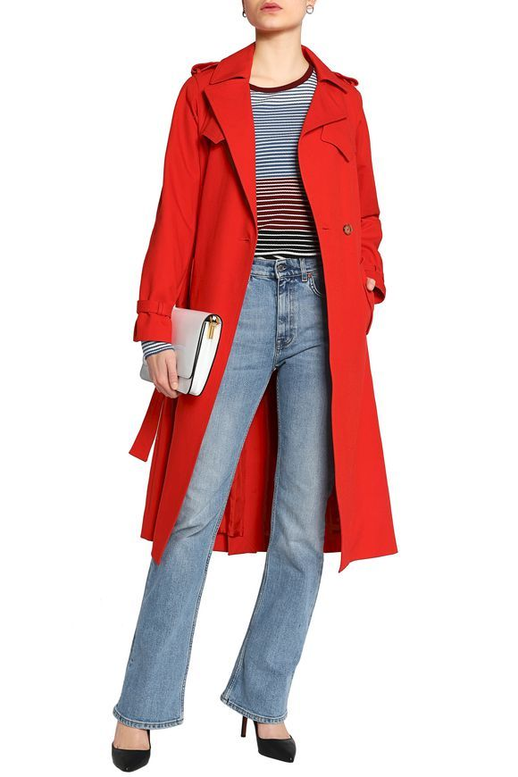 5212d2ec13bb MAJE Goldie cotton-gabardine trench coat. Women's Designer Coats   Sale ...
