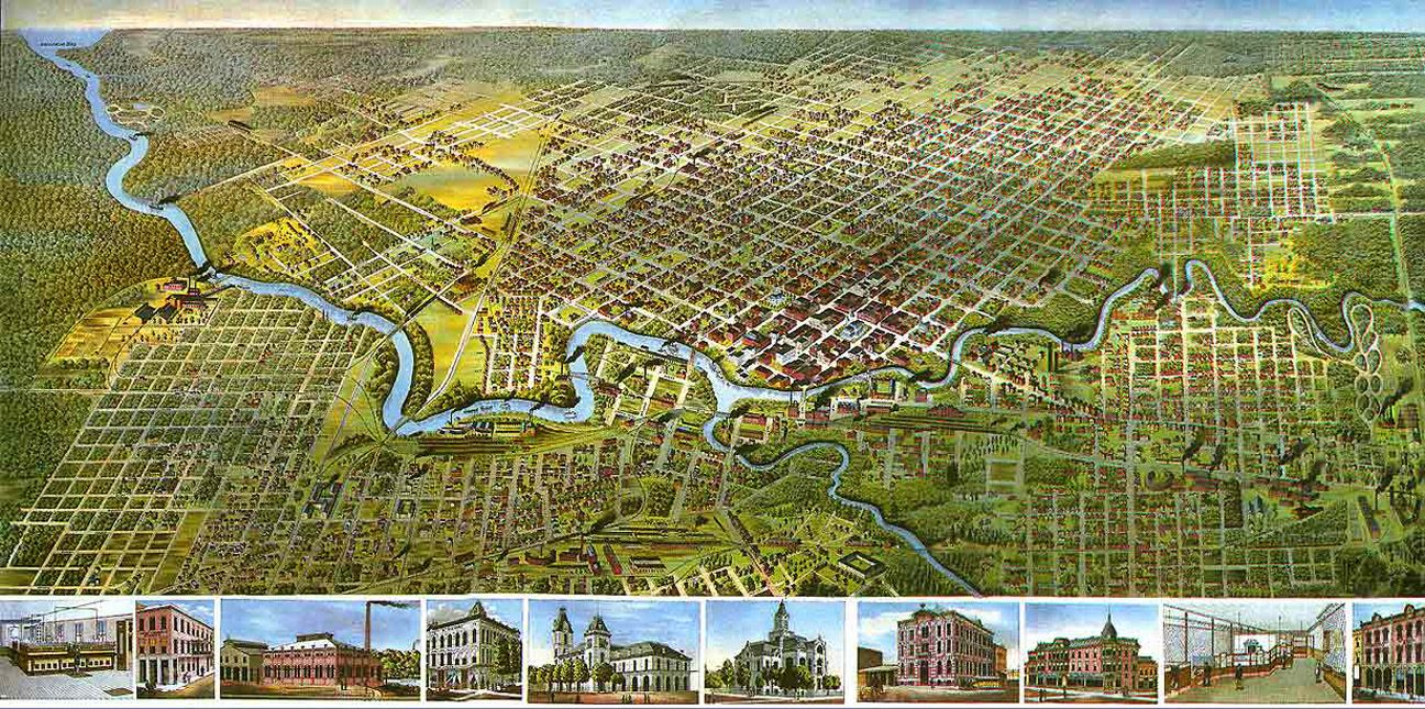Bayous In Houston Map.Houston Map Here You See The Confluence Of White Oak Bayou And