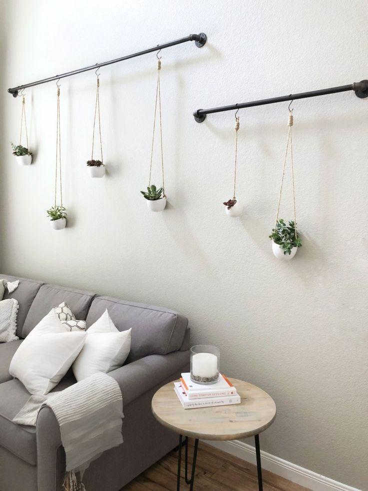 Schritt für Schritt Anleitung zum Aufhängen von Sukkulenten #wanddekowohnzimmer