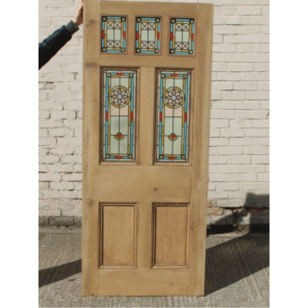 Victorian Edwardian 7 Panel Stained Glass Exterior Original Door \u0027 The ...  sc 1 st  Pinterest & Victorian Edwardian 7 Panel Stained Glass Exterior Original Door ...