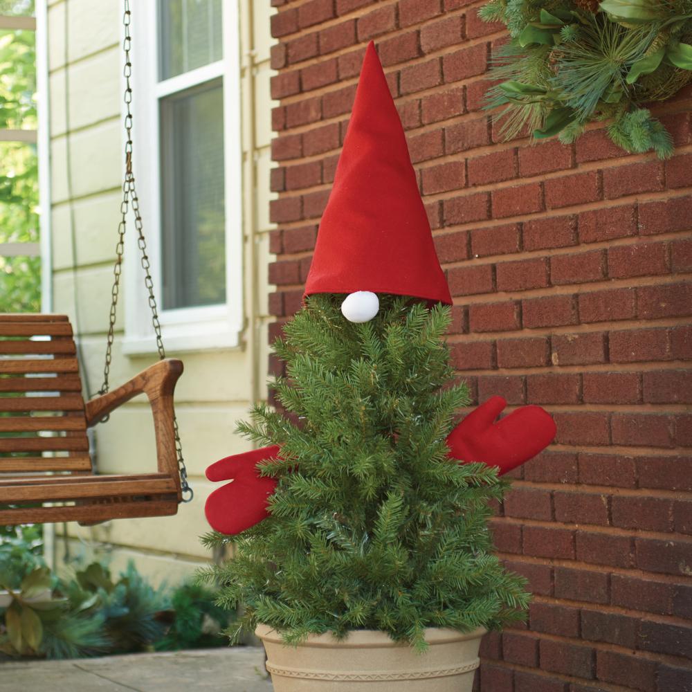 Evergreen Gnome Kit Christmas urns, Christmas