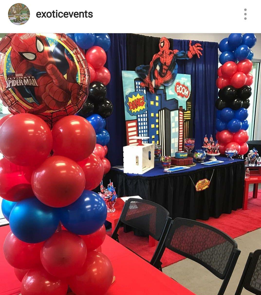 Spiderman Birthday Party Decoration Spiderman Birthday Party