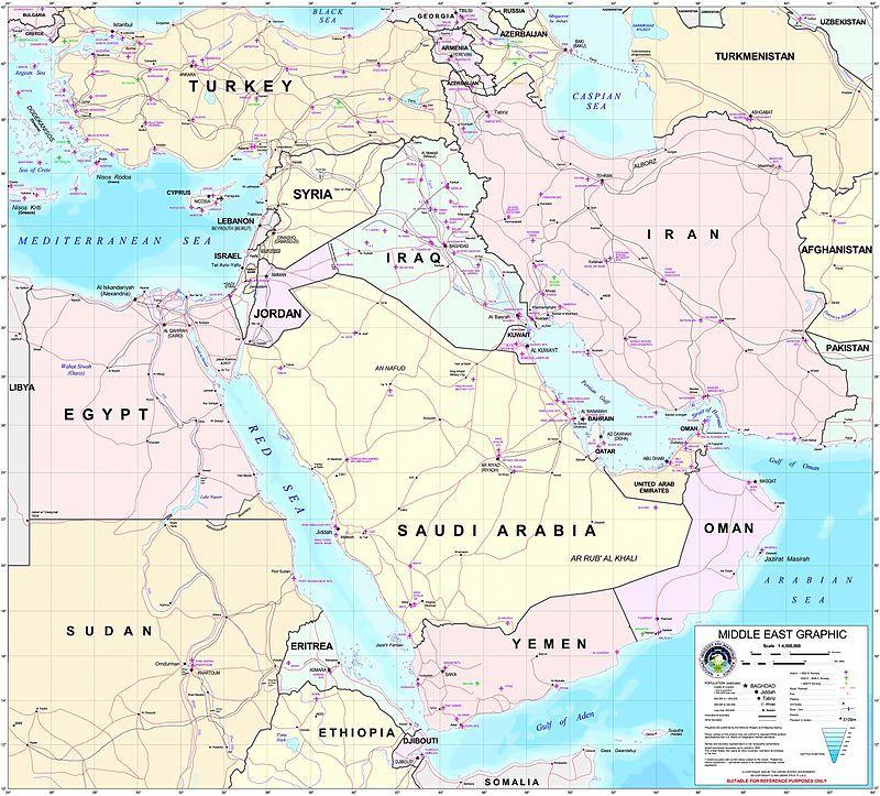 Politicheskaya Karta Srednego Vostoka Srednij Vostok Angl Middle East Pers خاورمیانه Arm միջին արևելք Urdu مشرقی وسط ی Ar Srednij Vostok Karta Afganistan