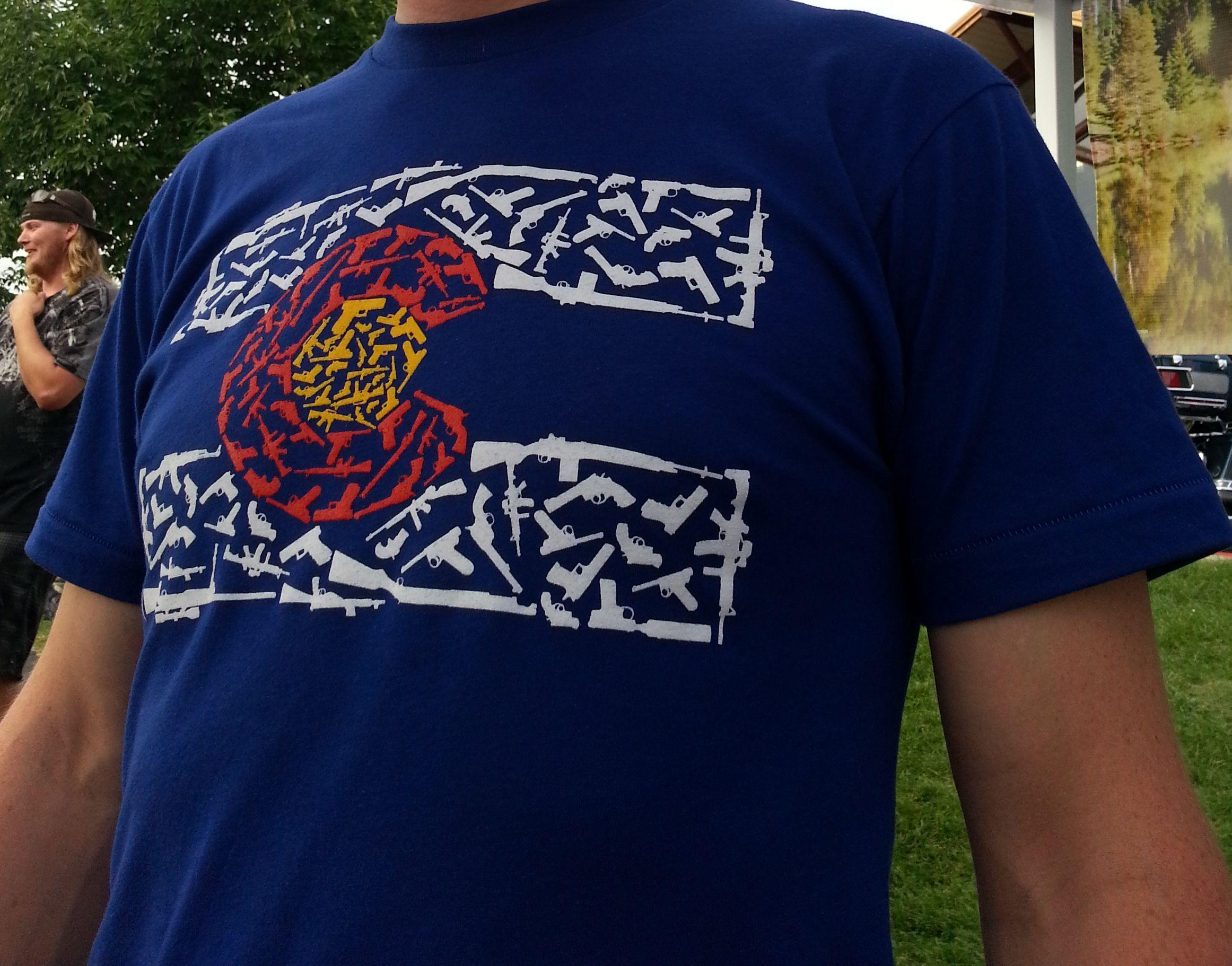 "A ""Colorado Gun Flag"" T-Shirt design from www ...  A ""Colorad..."