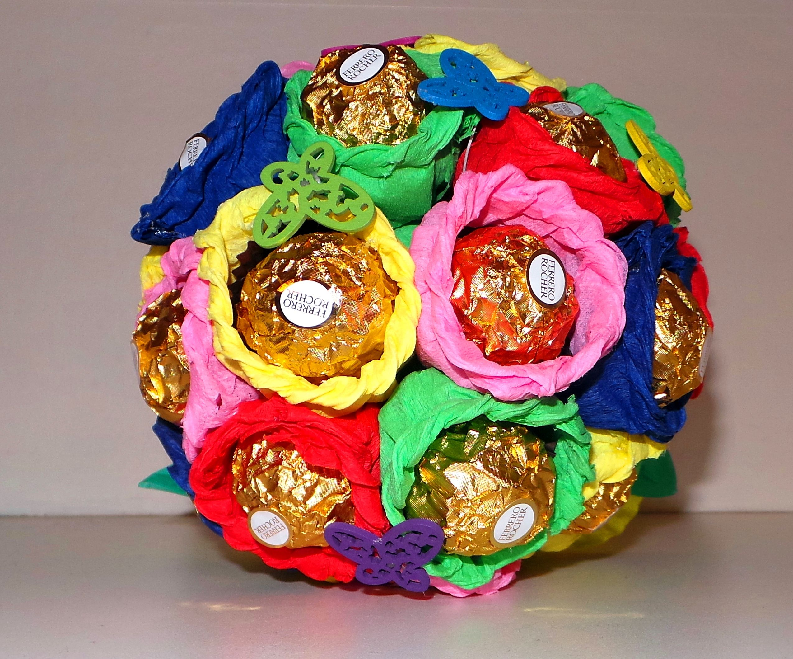 Pin By Floristique Creations On Ferrero Rocher Chocolate Bouquets 1