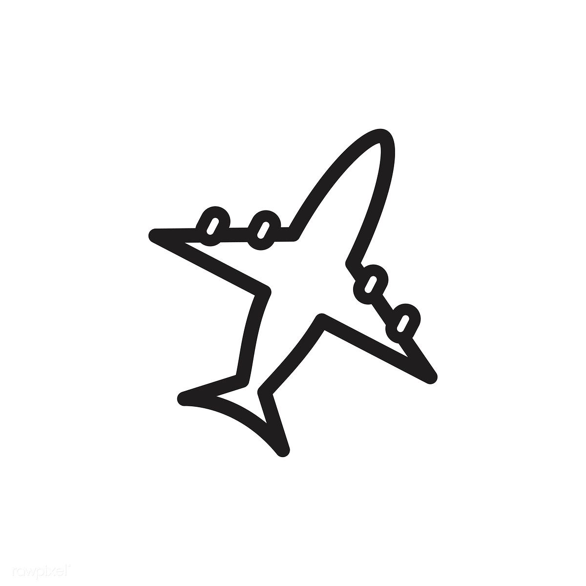 Download Premium Vector Of Airplane Icon Vector 533396 Airplane Icon Vector Free Stock Images Free