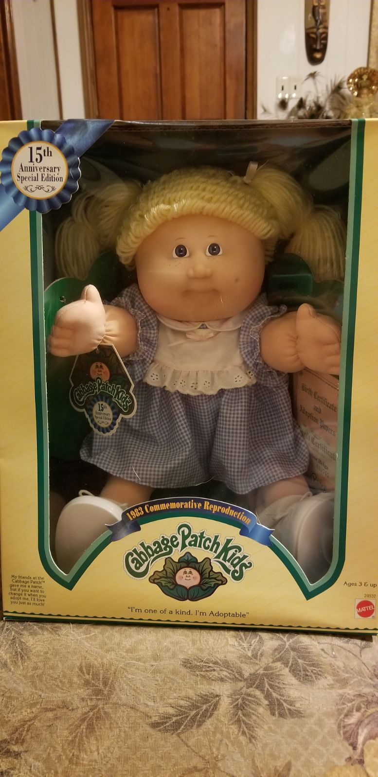 15th Anniversary Special Edition Cabbage Patch Doll Still In Box Cabbage Patch Kids Dolls Cabbage Patch Kids Cabbage Patch Dolls