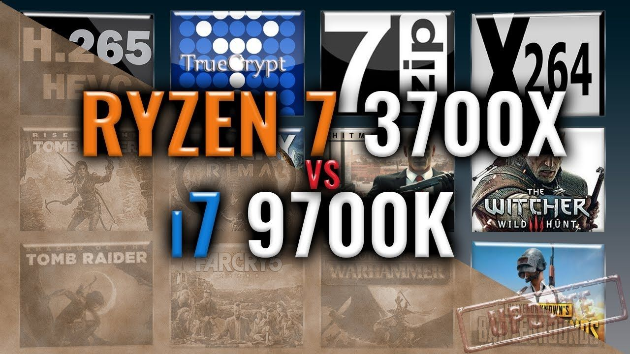 Ryzen 7 3700x Vs I7 9700k 15 Tests Which Is Better Middle Earth Shadow Intel Benchmark
