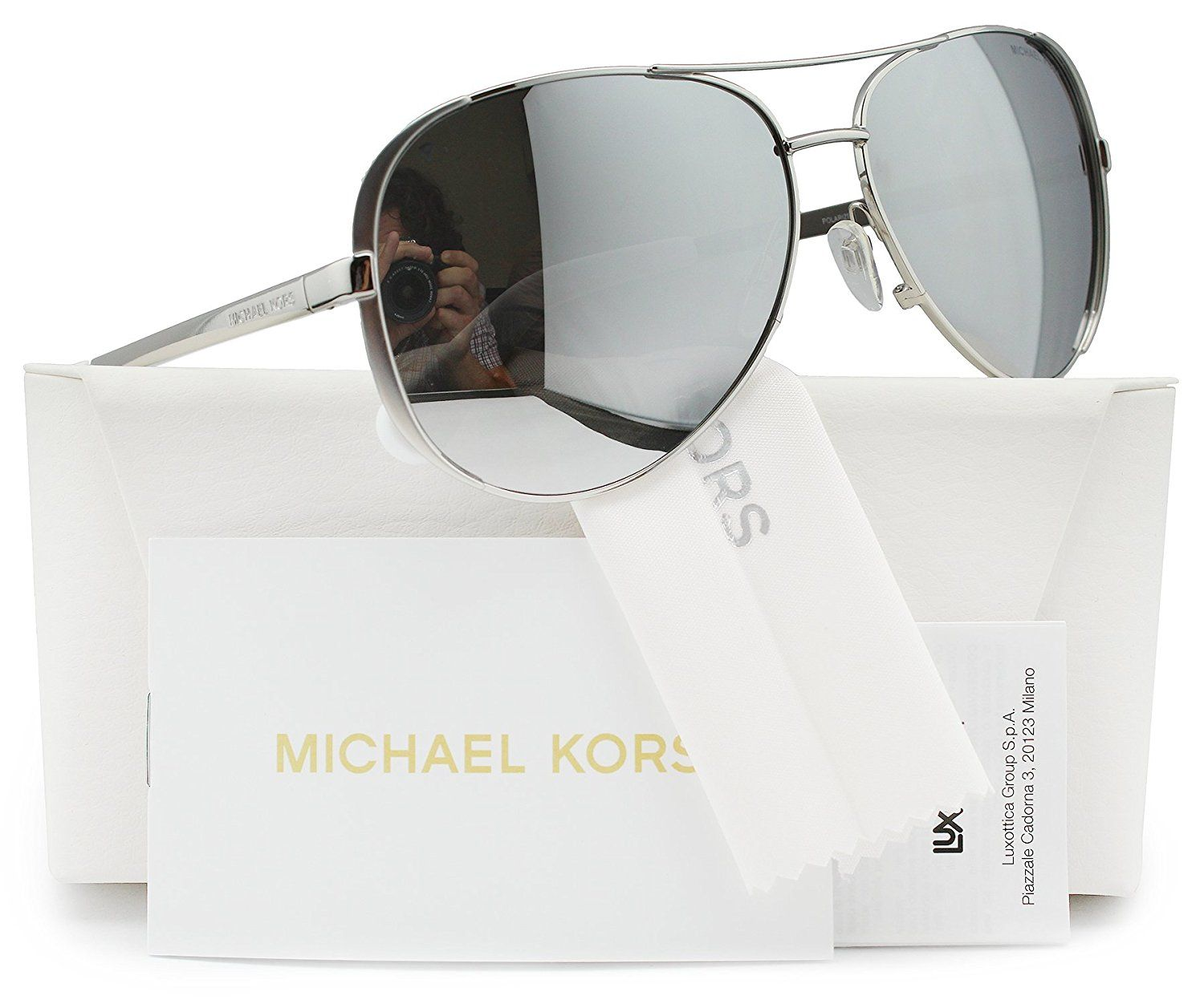 d95728275b Michael Kors MK5004 Chelsea Aviator Sunglasses Rose Gold w Purple ...