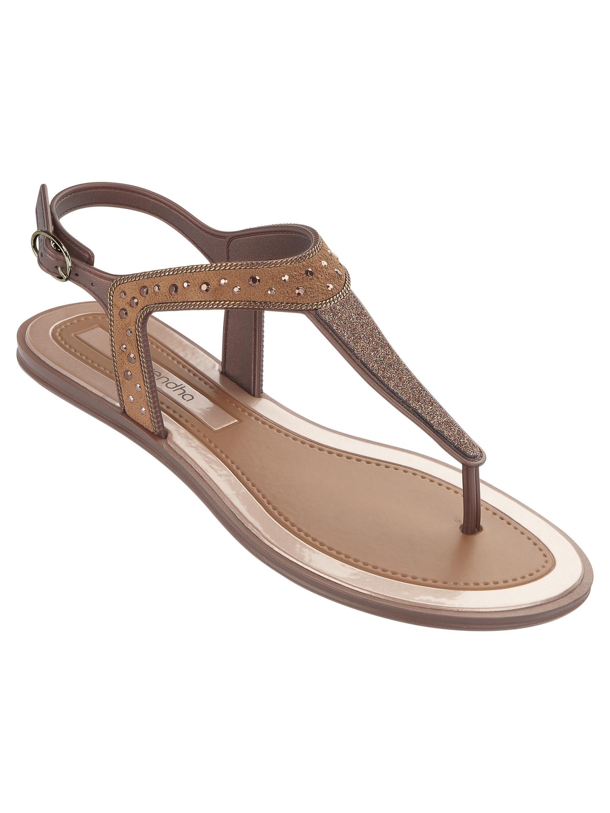 Grendha Golden Thong Flip flops de femme / Sandales. idRSqs