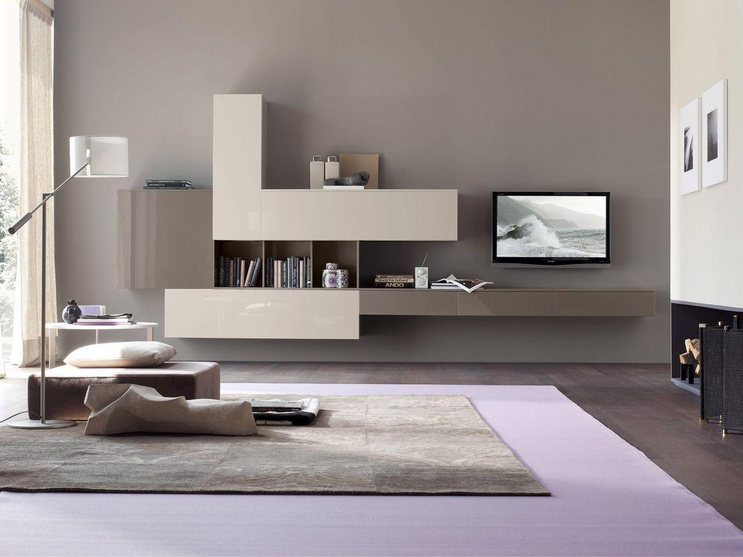 arredamento soggiorno Lissone | pareti attrezzate | Pinterest | Tv ...