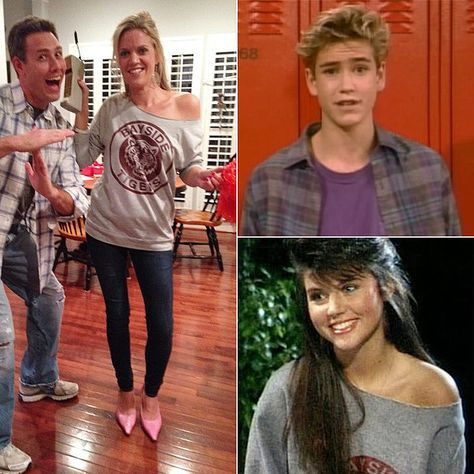 Zack Morris and Kelly Kapowski From Saved by the Bell | via Popsugar