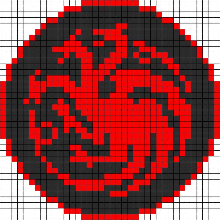 Game Of Thrones Targaryen Sigil Perler Bead Pattern | Bead Sprites ...