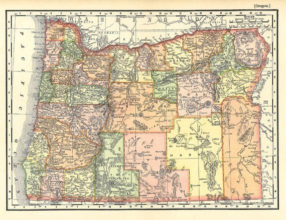 picture regarding Printable Map of Oregon named map of Oregon against 1904, a printable electronic map no. 925 inside of
