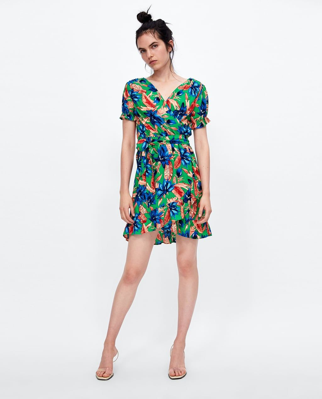 629cd787d98 Image 1 of CROSSOVER DRESS WITH FLORAL PRINT from Zara Zara Women, Yes To  The