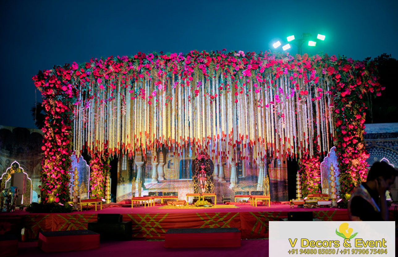 Stage Decoration Outdoor Stage Decoration Ceremony In 2019 Pinterest Stage