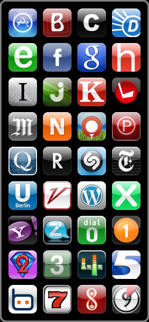 iPhone App Icons Alphabet Andréas Saudemont Grafisch