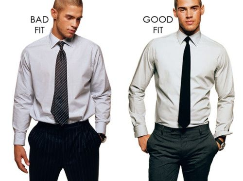 2d31b1648 How your shirt should really look. Bad fit vs. good fit. Ditch the  parachute shirts.