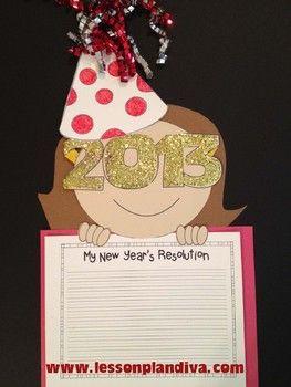 My New Year S 2020 Resolution Craftivity Classroom Writing Classroom Crafts New Years Activities