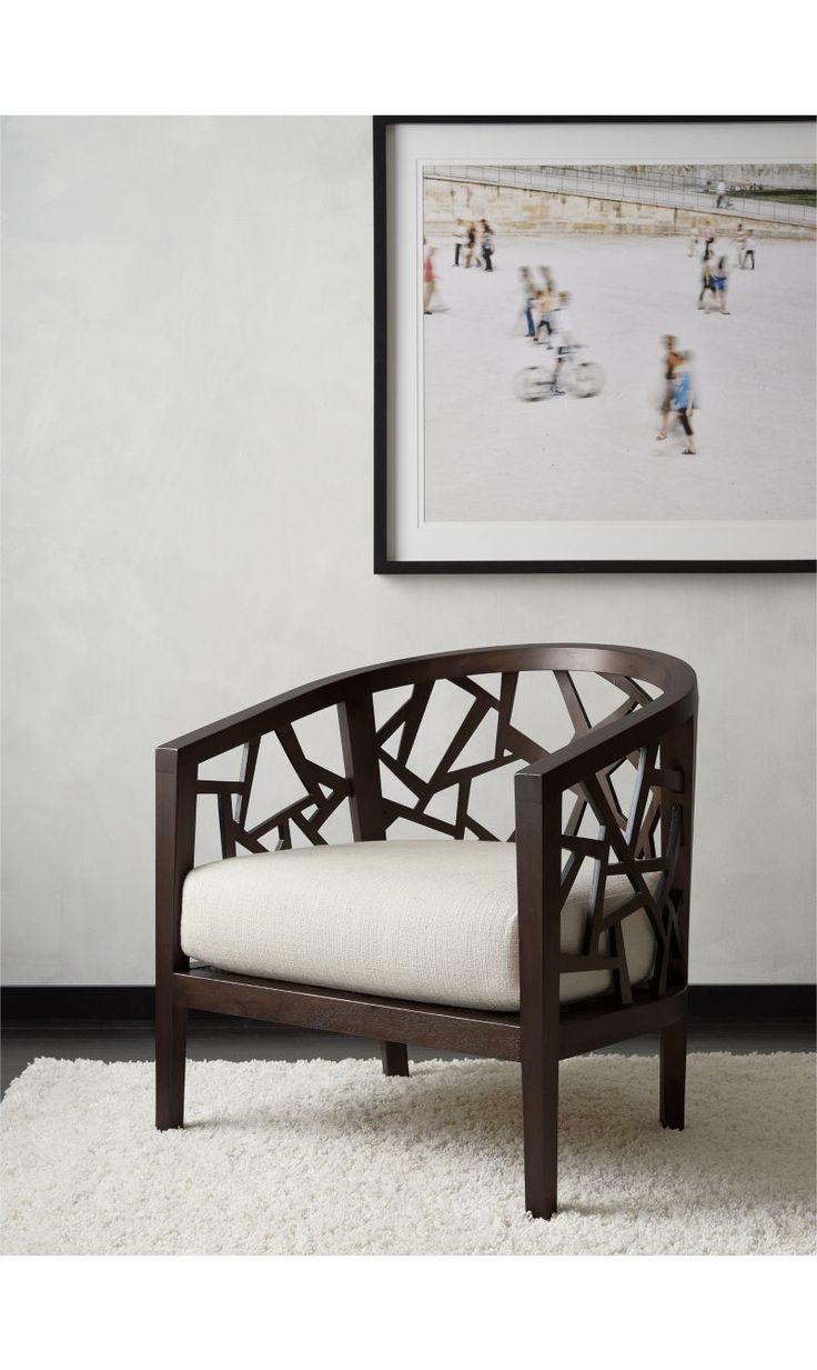 Ankara Truffle Frame Chair with Fabric Cushion   Crate and Barrel ...