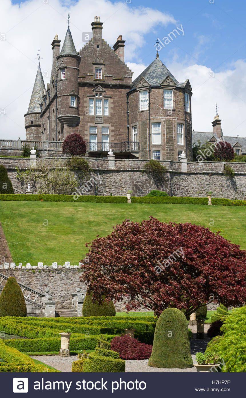 The formal terraced gardens of Drummond Castle Gardens ...