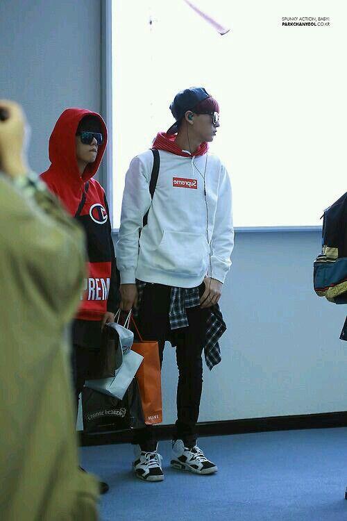 EXO CHANYEOL airport fashion