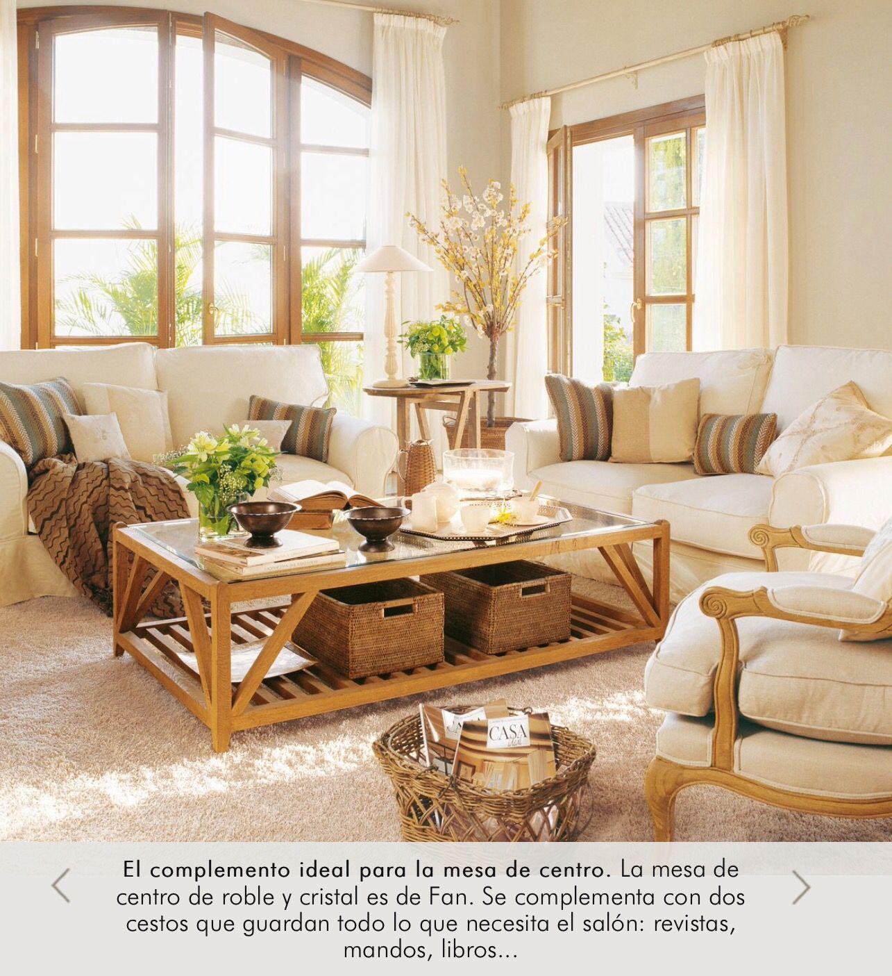 Orden En Casa Cajas De Mimbre Bajo La Mesa Del Sal N El Mueble  ~ Revista De Decoracion El Mueble
