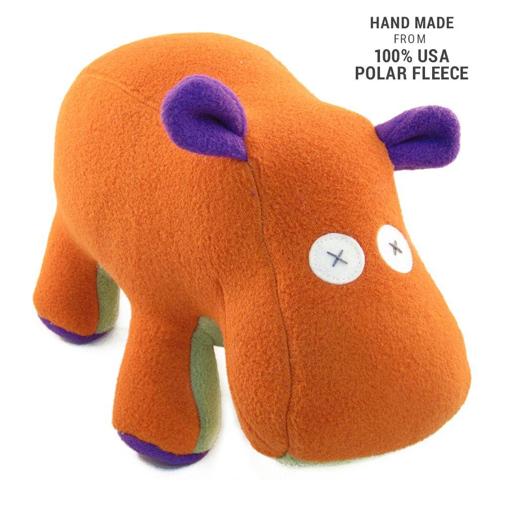 Handmade Softy Hippo Stuffed Animal (100 USA Polar Fleece