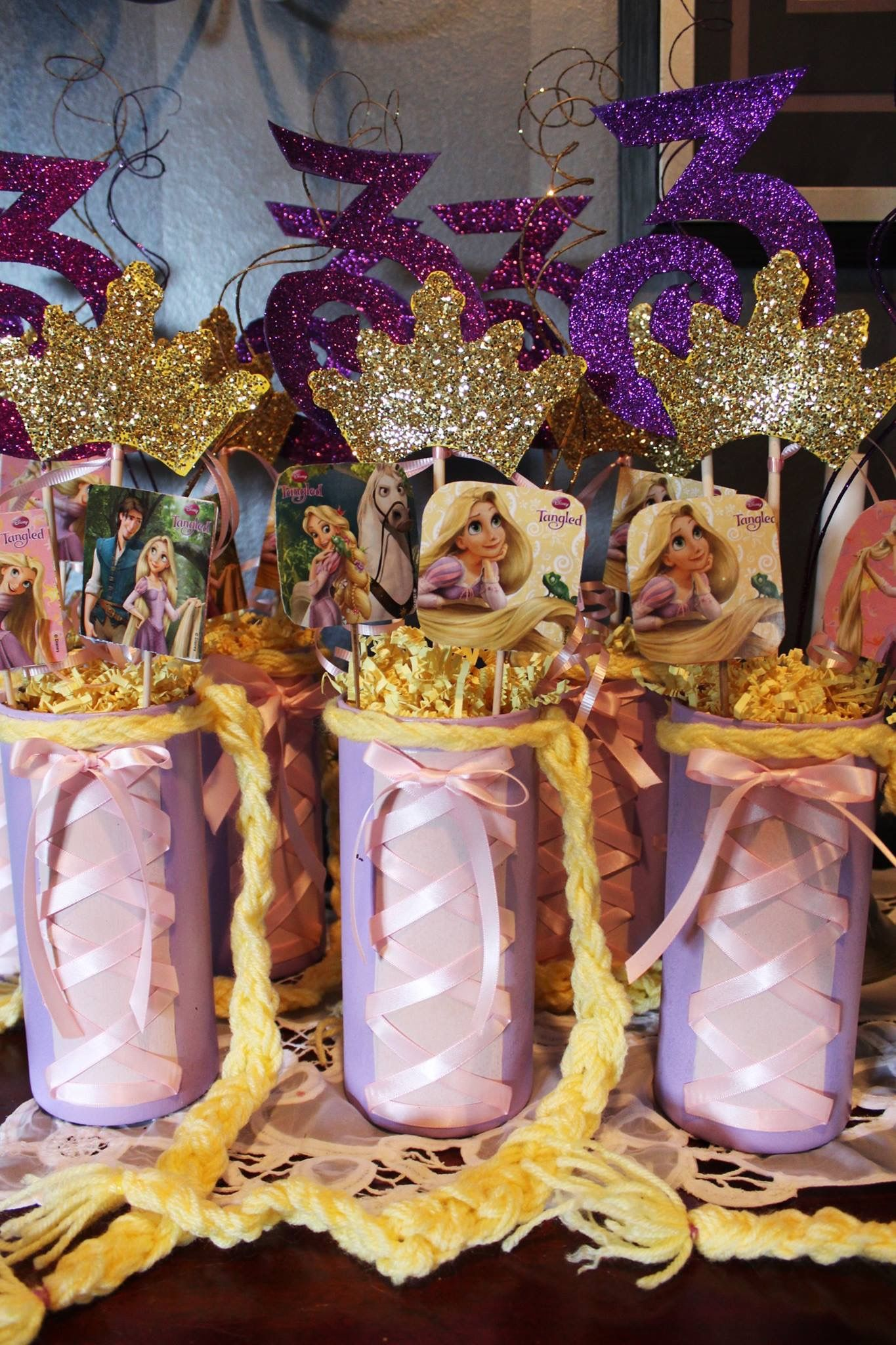 Gorgeous Tangled Themed Guest Rooms At Tokyo Disneyland: Tangled Rapunzel Birthday Party- Centerpiece DIY