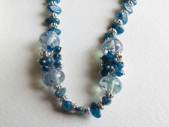 Jewelry Necklace and Earring Glass Lampwork Beads by Smokeylady54, $140.00