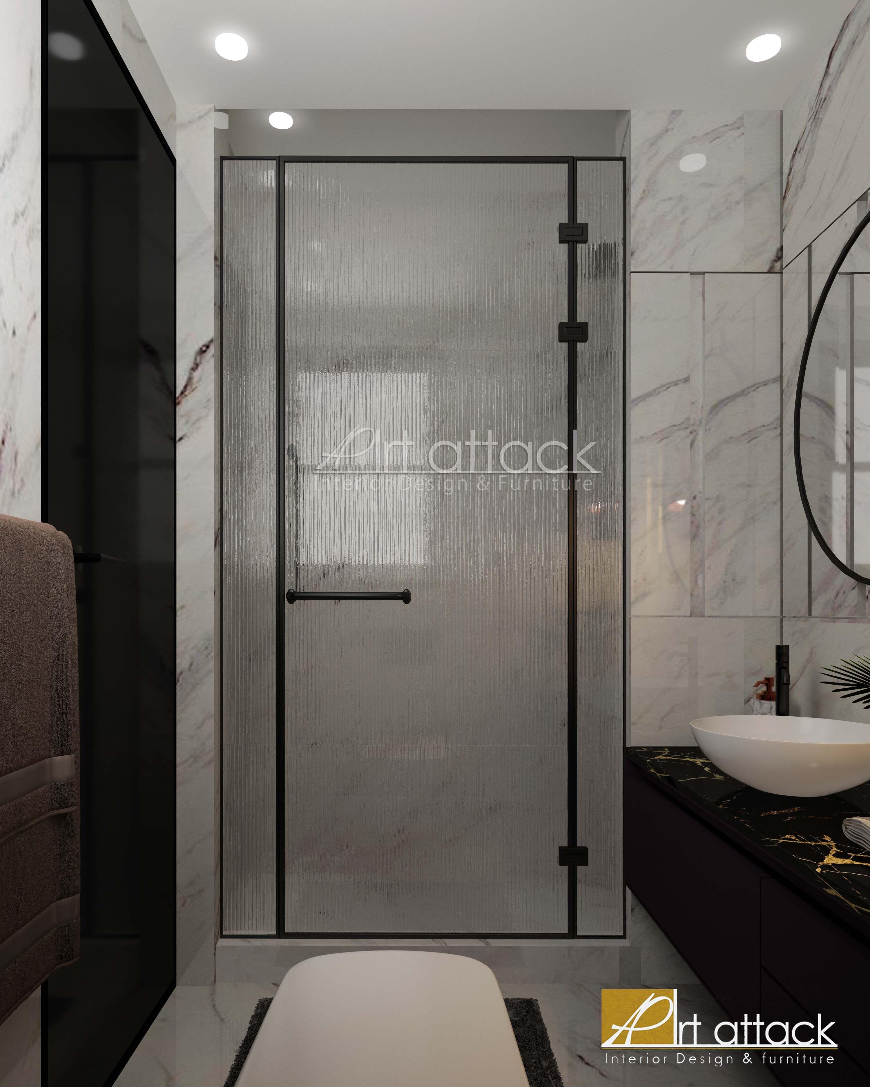 Interior Design Design Art Attack My Room شقق عيادة فيلا الرحاب مودرن تصميم تصميم داخلي Apartment Decoration Decor Bathroom Mirror Selfie Bathtub