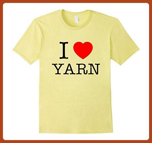 Mens I Heart Love Yarn Novelty Cute Crochet Funny Knitting Shirts 3XL Lemon - Funny shirts (*Partner-Link)