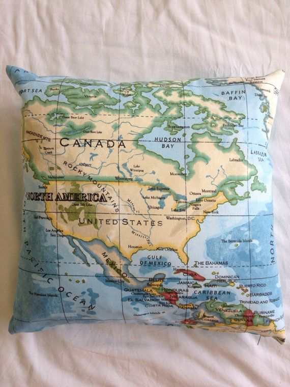 Canada and north america stylish cushion cover azure map fabric canada and north america stylish cushion cover azure map fabric canada gumiabroncs Choice Image