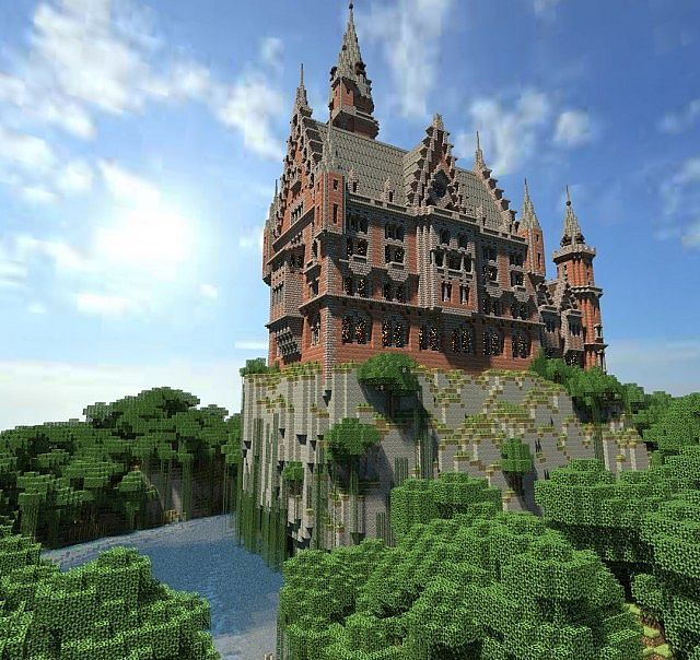 Minecraft castle blueprints google search minecraft for Modele maison minecraft