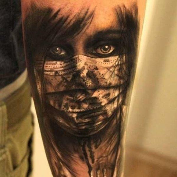 Niesamowite Twarze Wytatuowane Na Skórze Tatuaż Pinterest