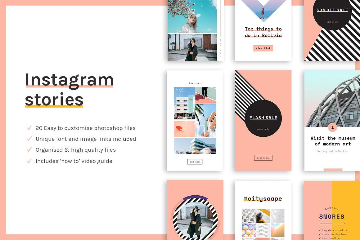Animated Instagram Stories #Instagram, #Stories, #Templates