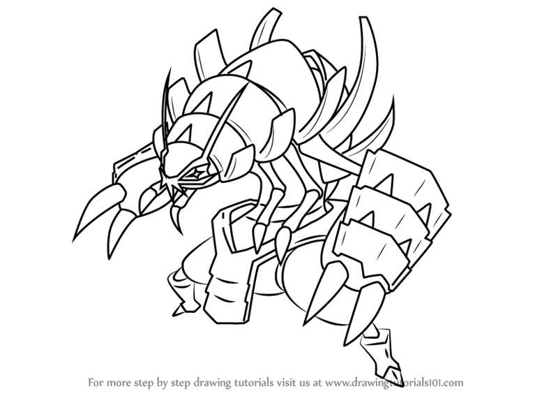Learn How To Draw Golisopod From Pokemon Sun And Moon