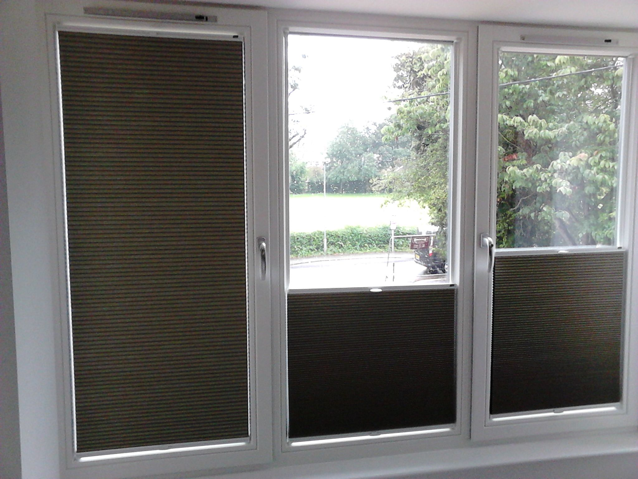 incredible new blind system from the luxaflex brand duette blinds that stick to the glass no. Black Bedroom Furniture Sets. Home Design Ideas