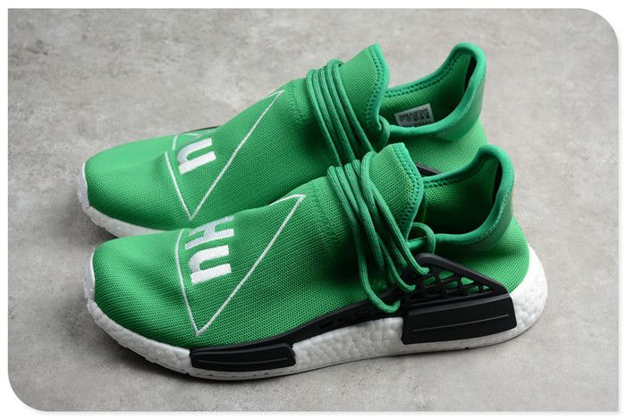 Pharrell x adidas NMD Human Race Green Footwear White-Black BB0620  www.nmdhumanrace2019.com 67493cad4