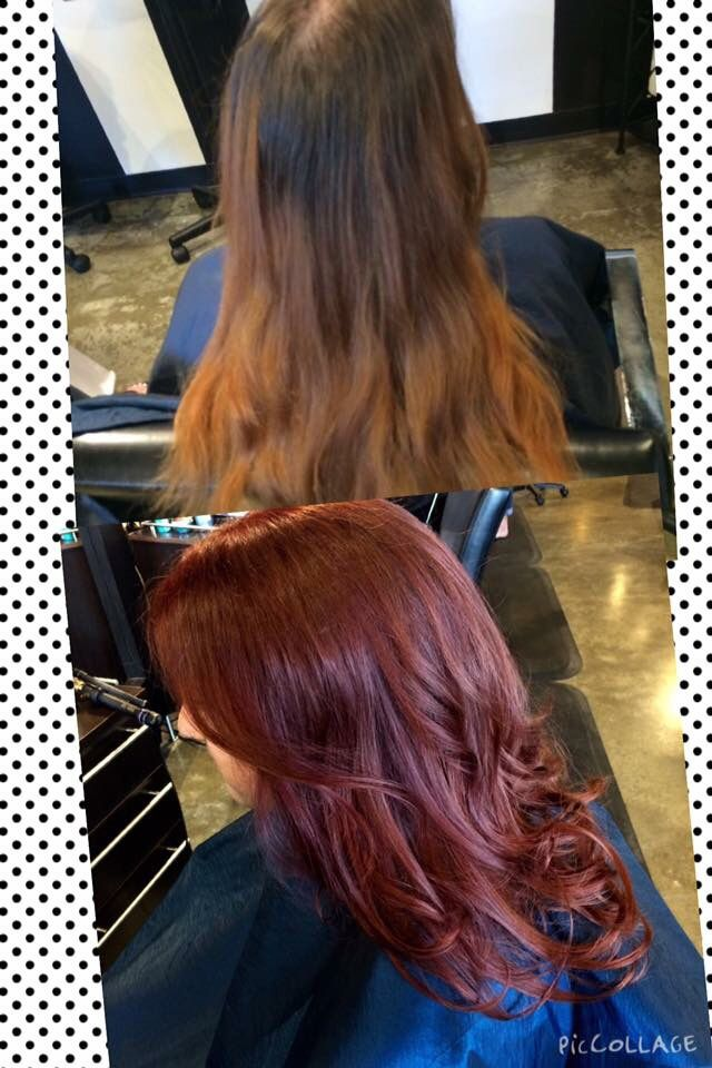 Awesome before and after of this beautiful redhead!