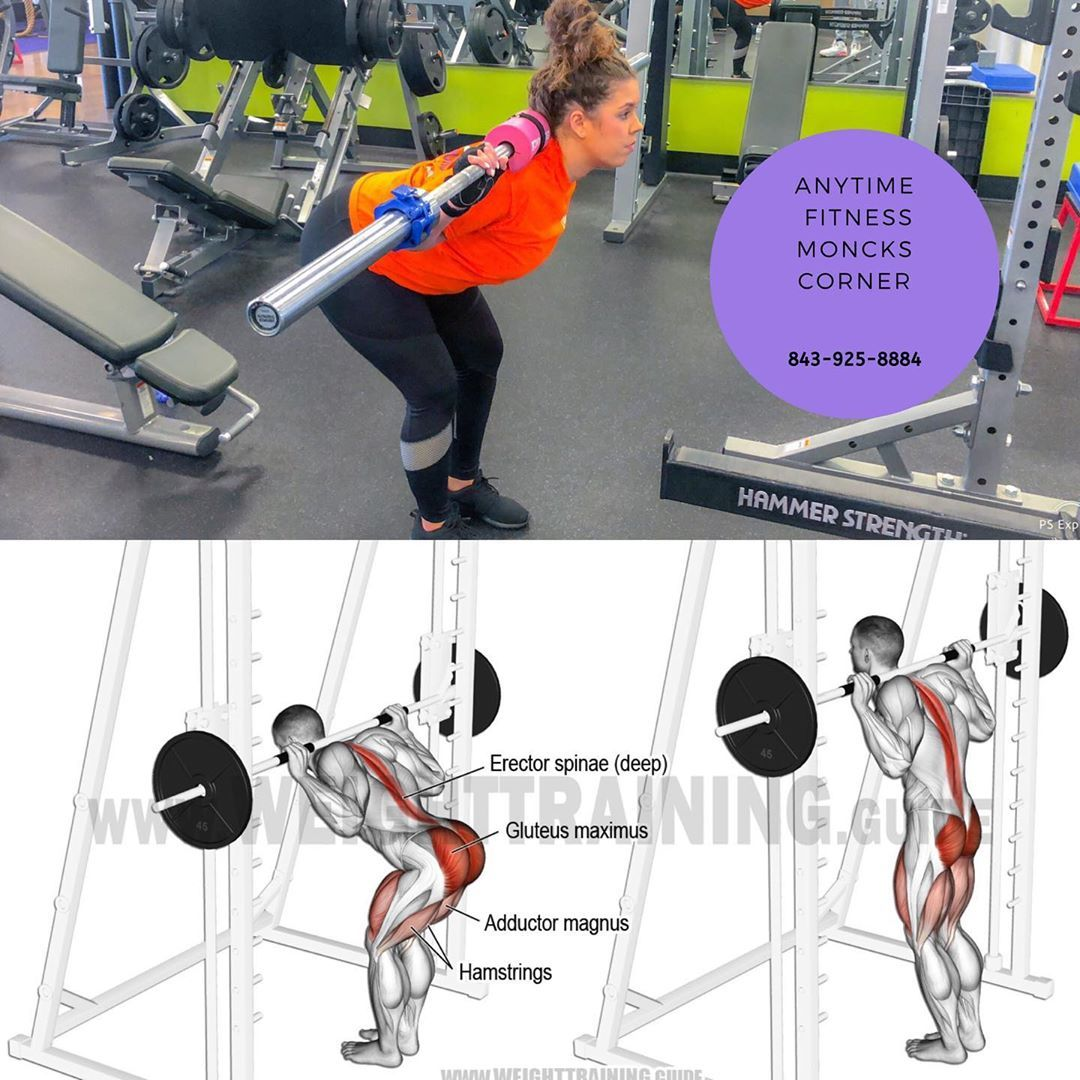 BUILD UP YOUR BACKSIDE 😆👍 Barbell Good Morning  Try this accessory movement out the next time your t...