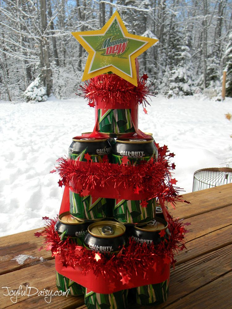 Beer Pop Can Christmas Tree Gift Christmas Hostess Gifts Beer Can Christmas Tree Christmas Tree With Gifts
